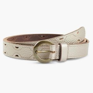 Lucky Brand Metallic Suede Leather Grommet Belt